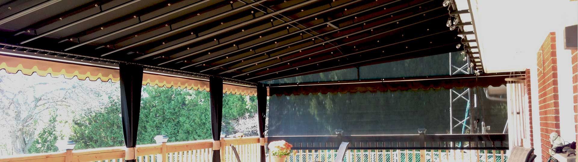 Awning framework fabrics superior awning fabrics for Garden decking framework