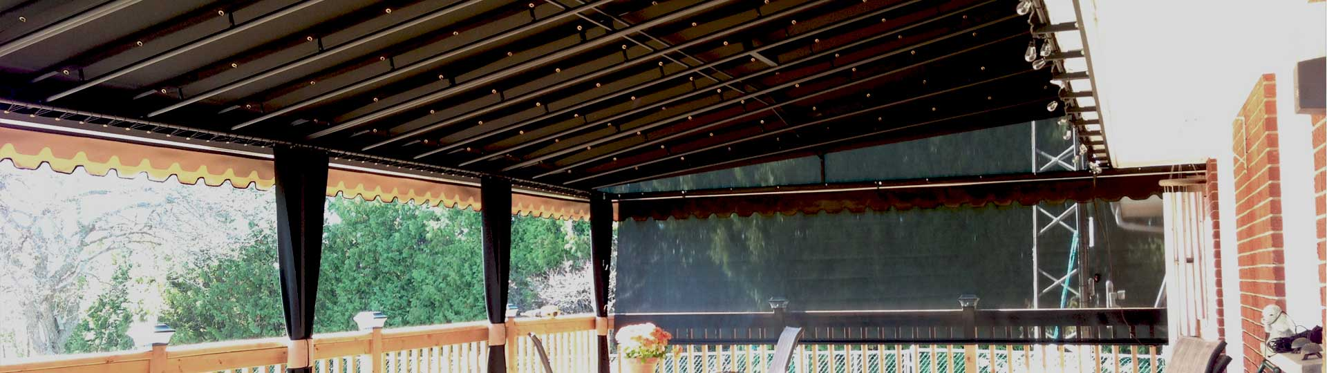 High Quality Awning Framework and Awning Fabrics