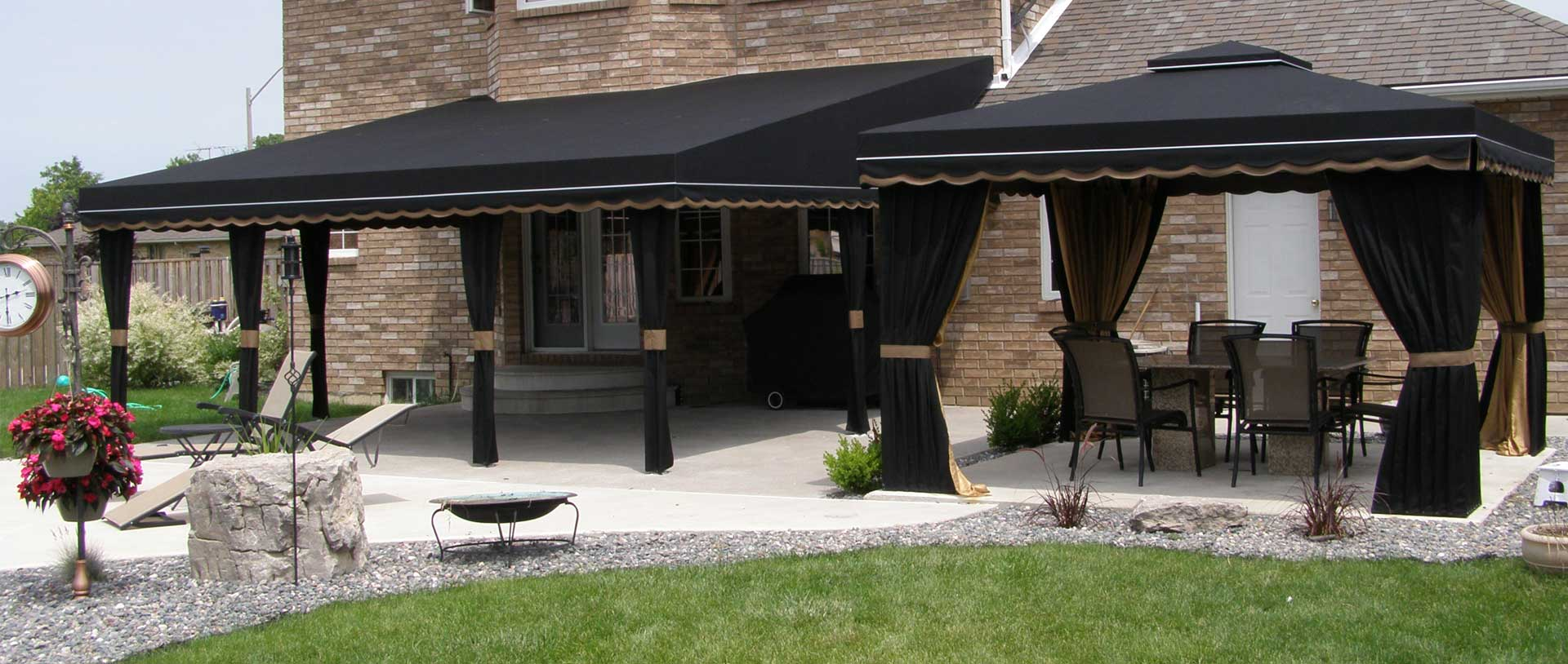 Residential and commercial custom Fabric Awnings